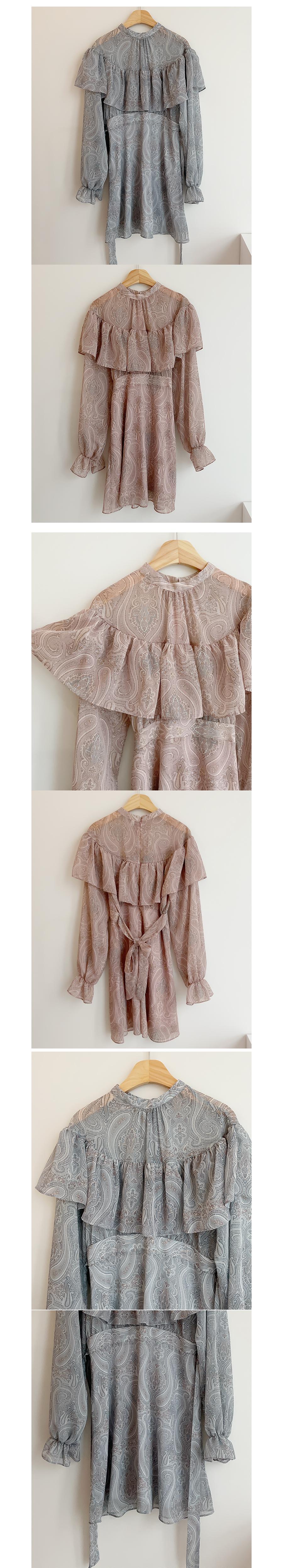 Amy Paisley Cape Dress 2color