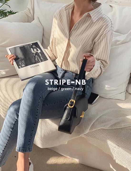 Weave striped shirt