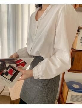 Mini frill cotton blouse 襯衫