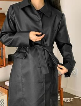 Midnight Leather Long Jacket 夾克外套