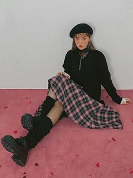 Check Lucy Long Skirt 裙子