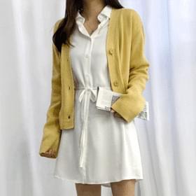 Ray mini shirt dress