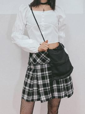 Check Care Pleated Skirt 裙子