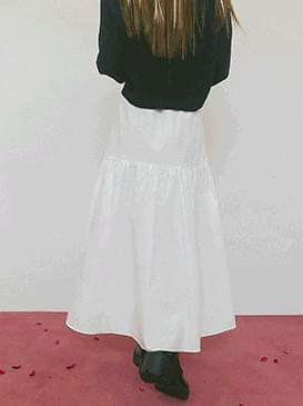Shirring Tia Long Skirt 裙子