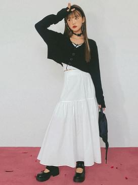 Cropped netty cardigan 開襟衫