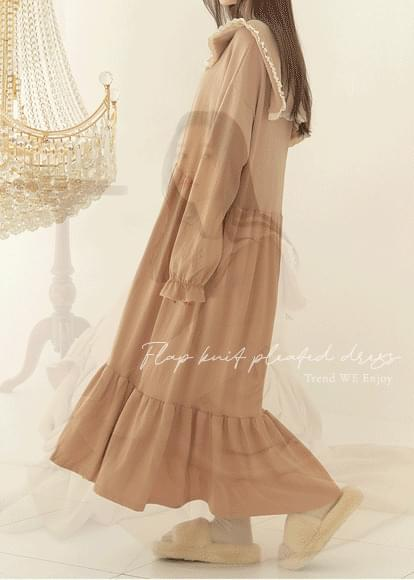Frill cape dress