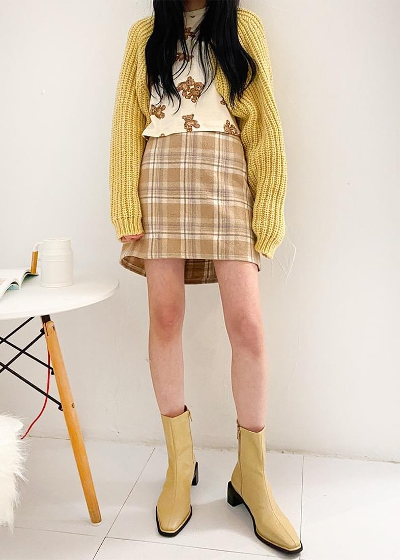 Sofia check mini skirt