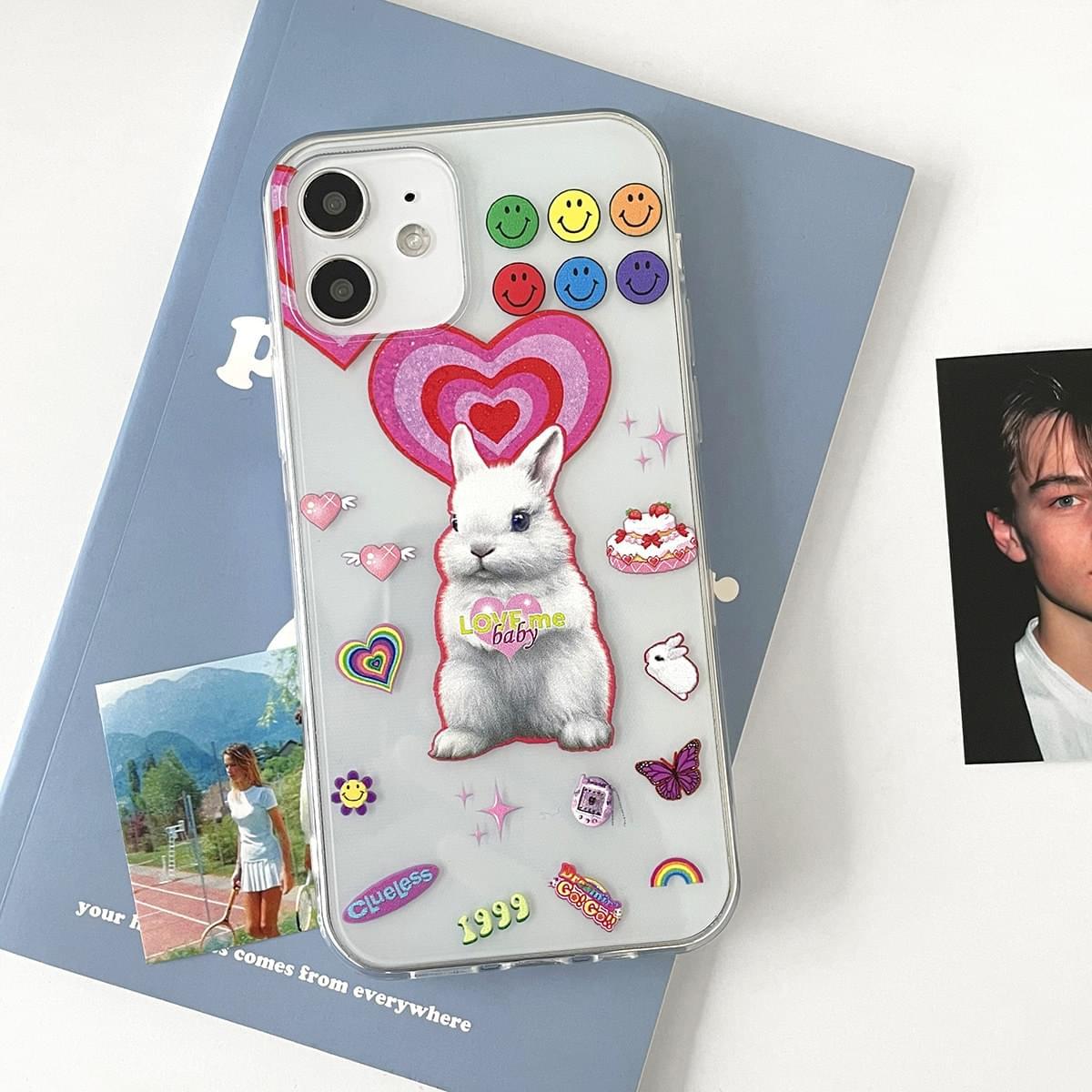 Love Me Baby Rabbit Sticker iPhone Case 手機殼