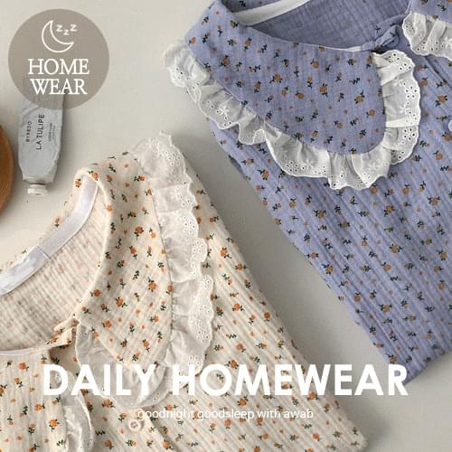 #homewear:_Frill color pajamas set (Delayed delivery)