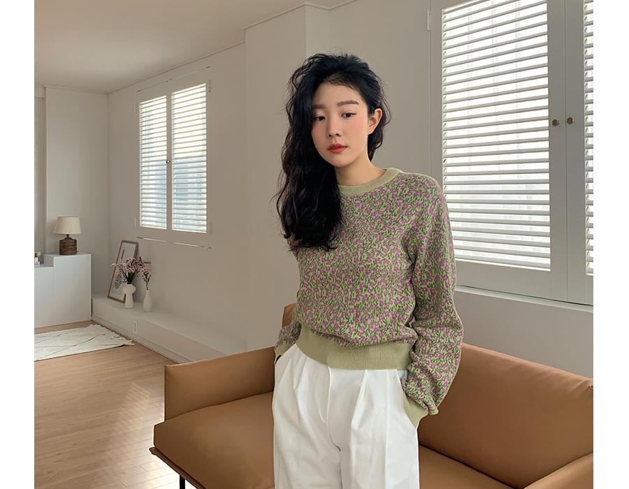 Pansy Cotton Round Knit 針織衫