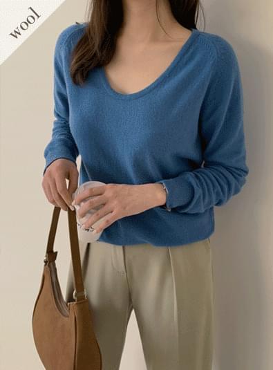 Labone square neck knit 針織衫