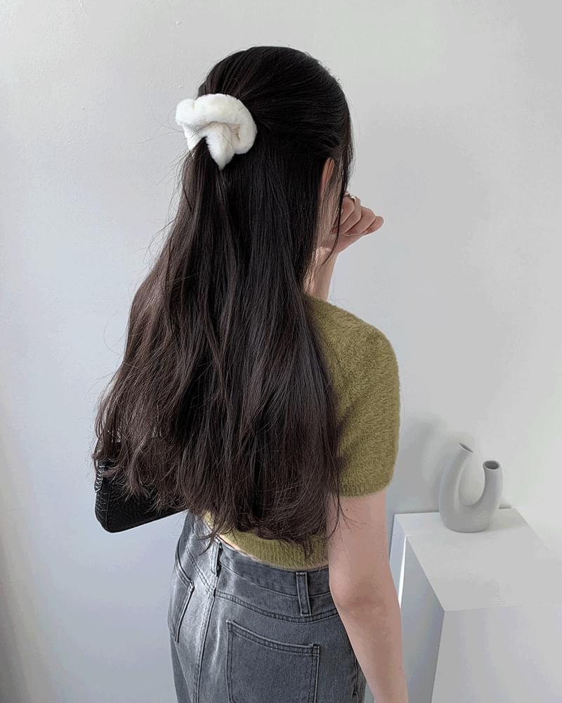 Bowdle fur hair giblets band headband 配飾