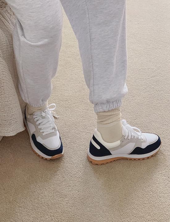 Combo suede sneakers