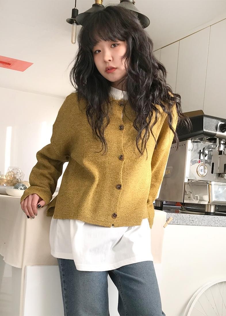 Alice collar knit cardigan