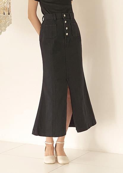 Button-up mermaid skirt