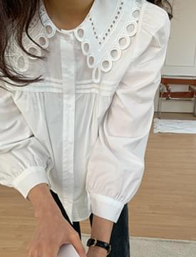 Punching Lace Cotton Blouse 襯衫