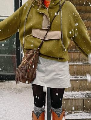 韓國空運 - Soi back banding cotton mini skirt 裙子