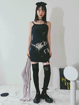 Tie-dye alling mini Dress 洋裝