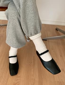 Winkle Banding Mary Jane Shoes 平底鞋