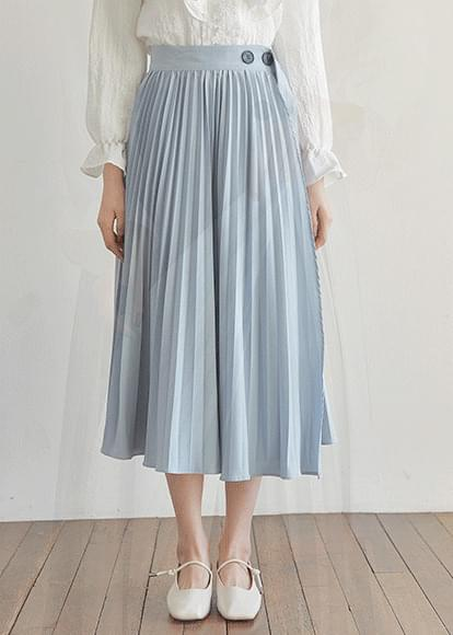 Unfoot pleated wrap skirt
