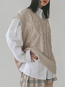 Cable Sens Knitwear Vest ニット