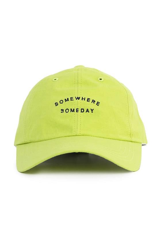 Somewhere lettering cap