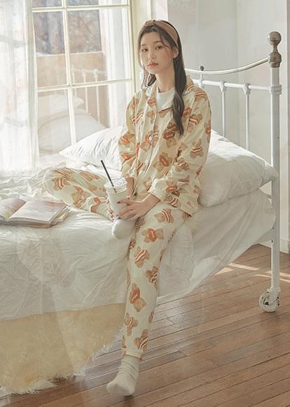 Bear Long Sleeve Pajama Set