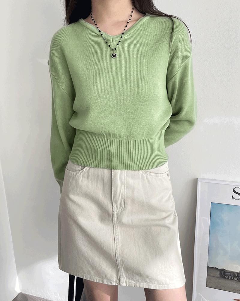 Steen V-Neck Crop Knitwear 針織衫