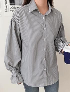 Oz stripe shirt ♥ sleeve strap point