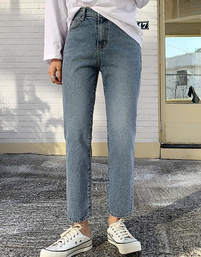 多口袋水洗纯棉牛仔裤