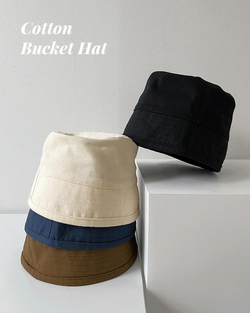 CAD Minimal Cotton Deep Bucket Hat Bungalow 帽子