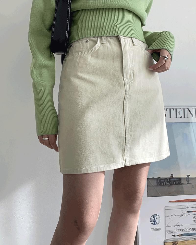 Millie Basic Cotton Cotton Mini Skirt 裙子