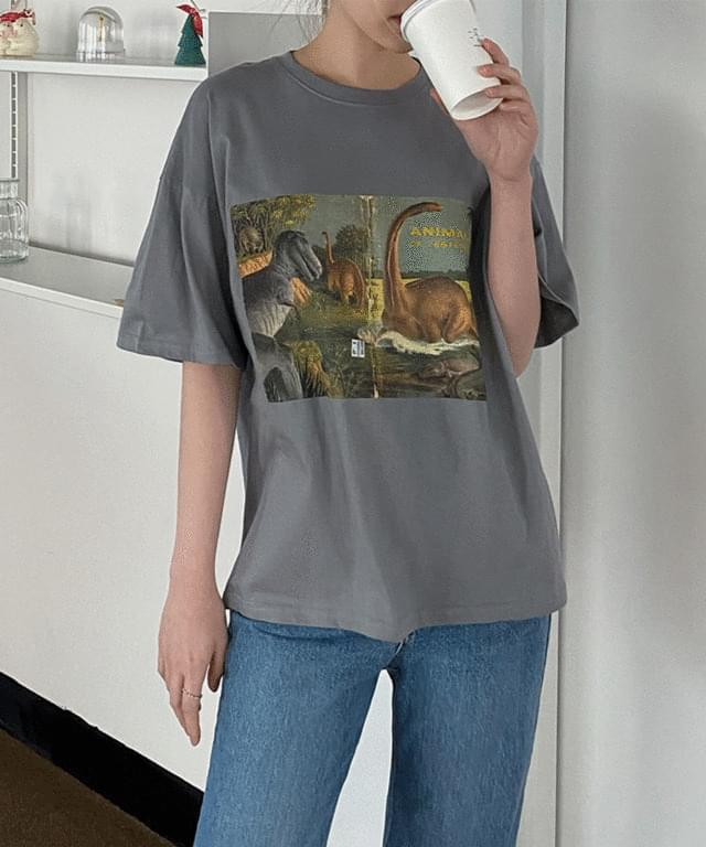 Jurassic Printed Boxy-fit Short Sleeve T-Shirt