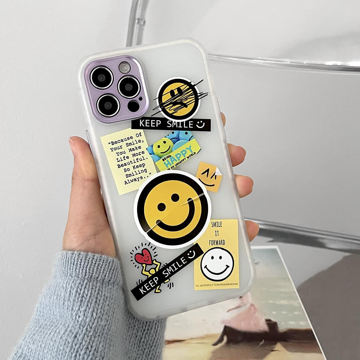 Smile Kitsch Translucent Full Cover iPhone Case 手機殼
