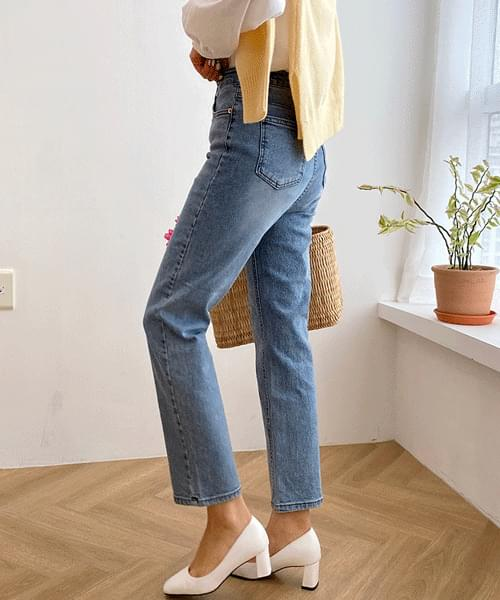 River high waist straight jeans
