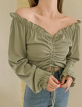 Jazz Shirring Frill T♥ Can be directed off shoulder :)