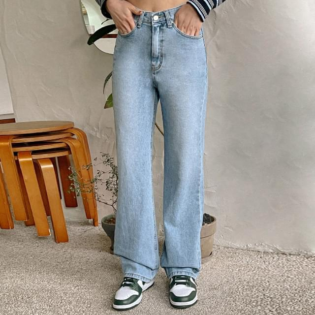 Mas semi-wide denim pants 牛仔褲