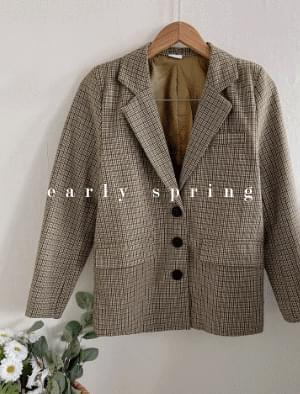 Pi vintage check jacket 夾克外套