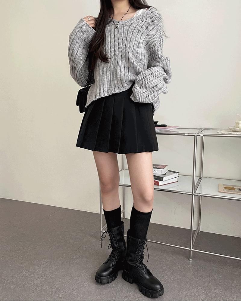 Youth V-Neck Multi-Fit Ribbed Knitwear 針織衫