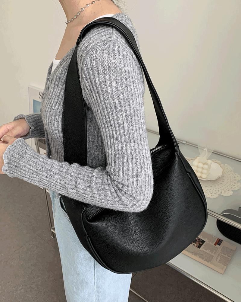 Rooker Mood Round Leather Hobo Shoulder Bag 肩背包