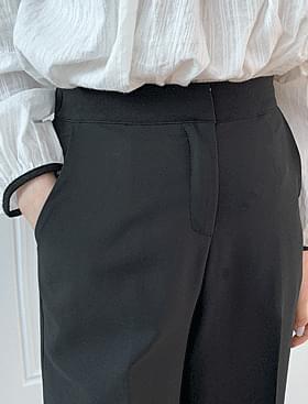 Merlin Flared slacks ♥ rear banding