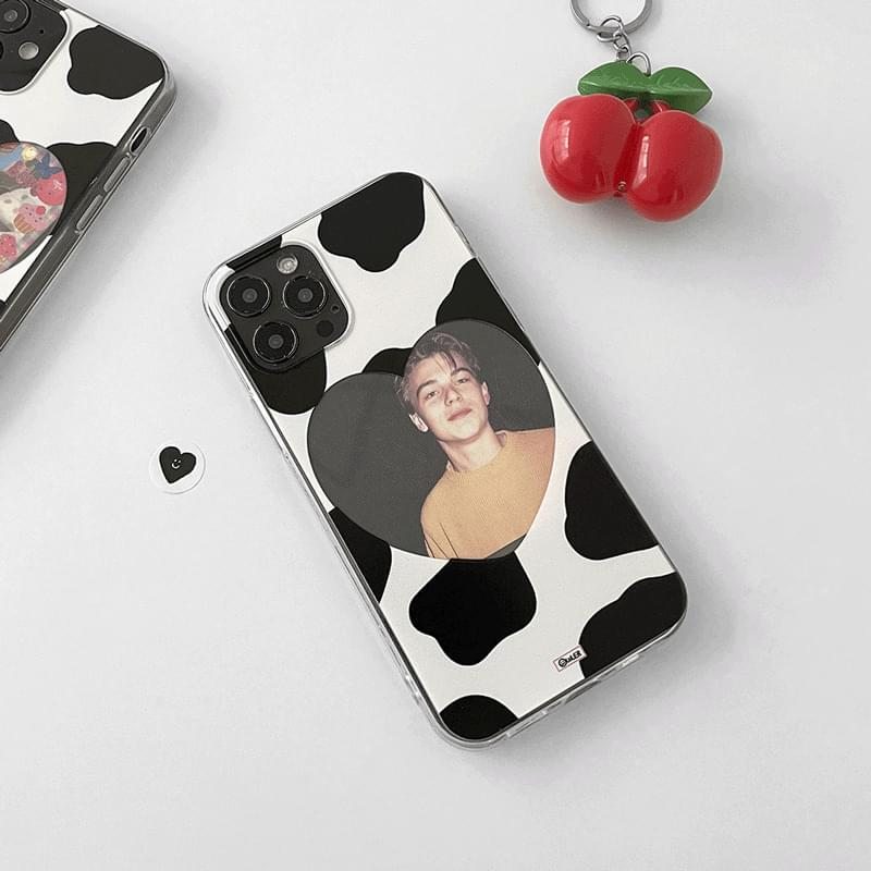 Cow Cow Heart Frame Photo iPhone Case 手機殼