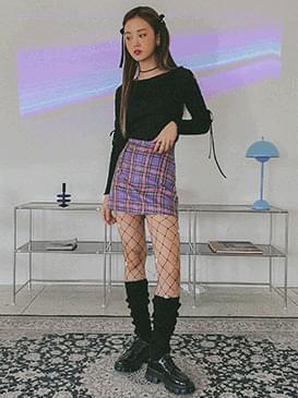 Heart Ring Check Mini Skirt skirt