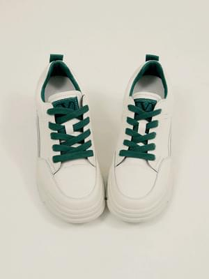 Zip-leather high-height sneakers 6cm