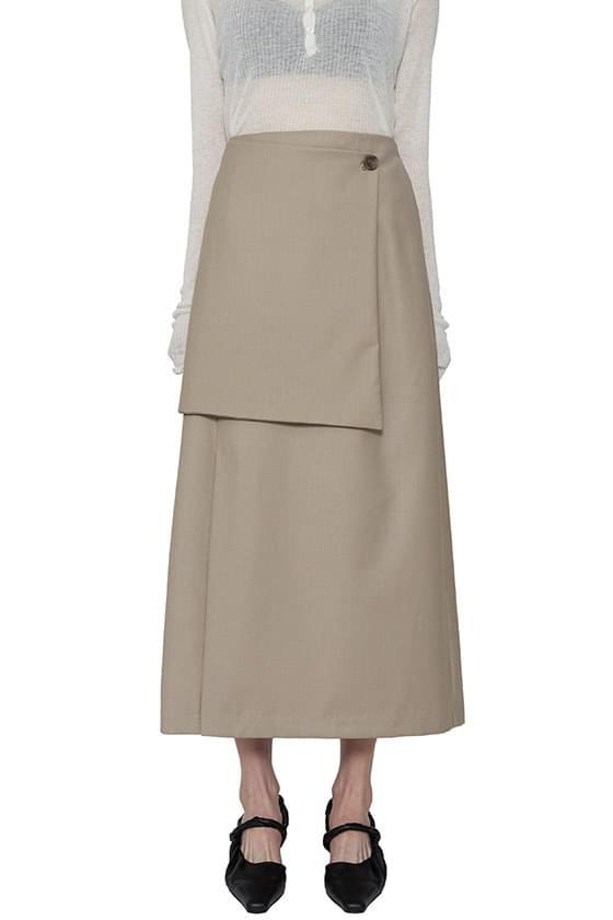 Luna unfooted buttoned maxi skirt