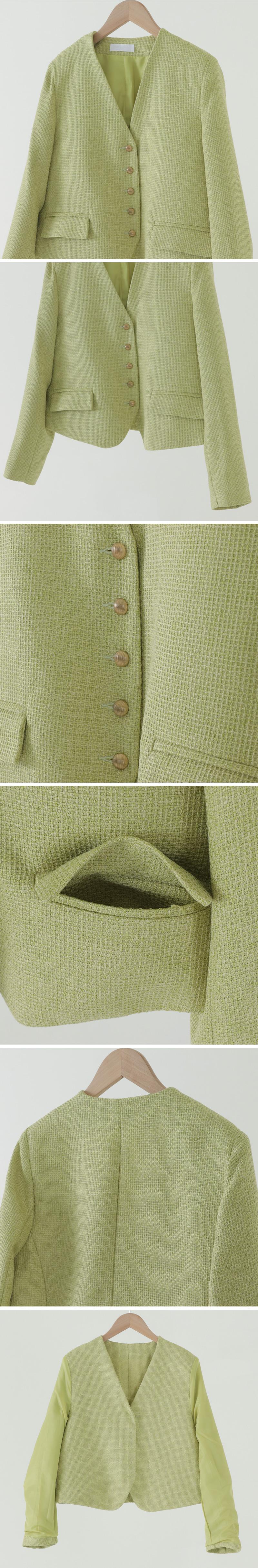 Luster No-Cara V-Neck Jacket