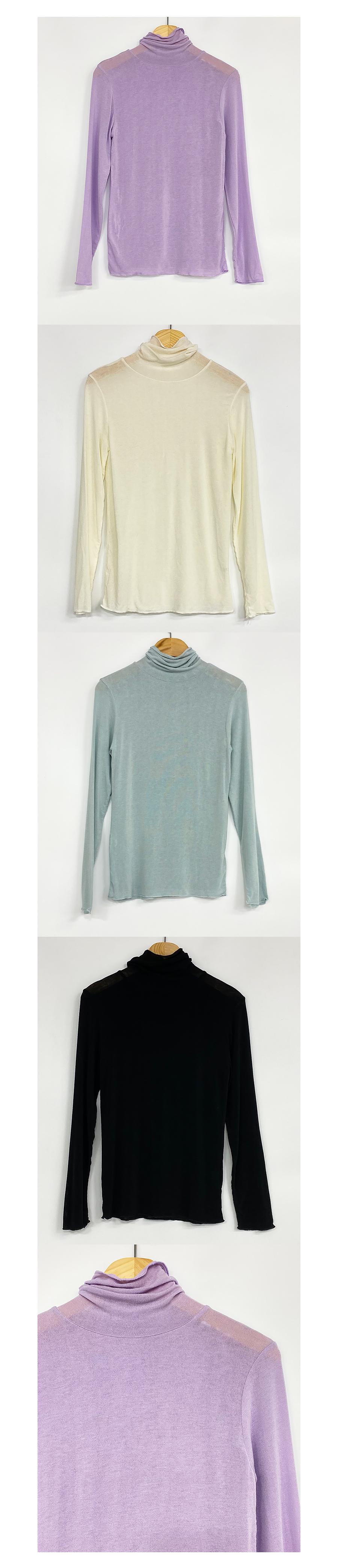 Mate Turtleneck T-shirt Spandex Daily 4color
