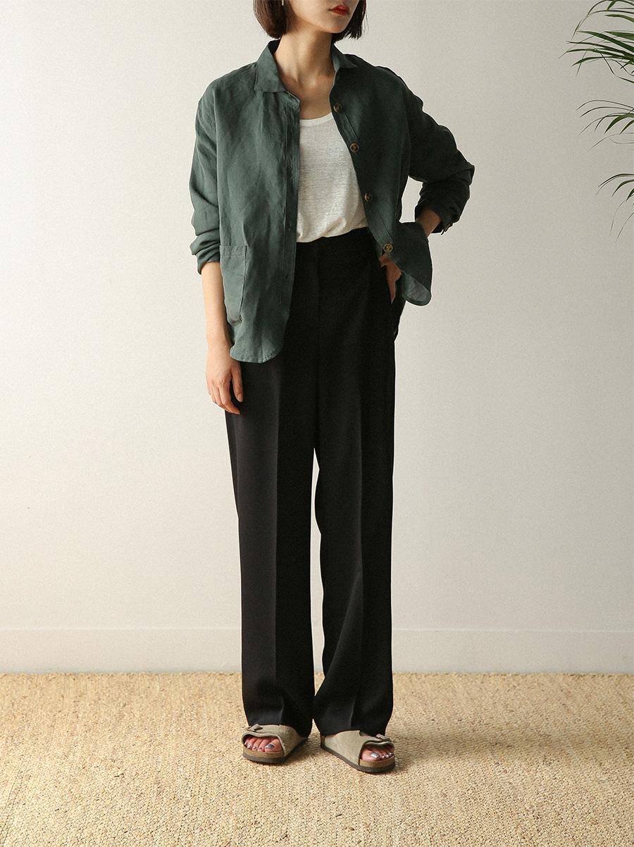stylish high loose slacks