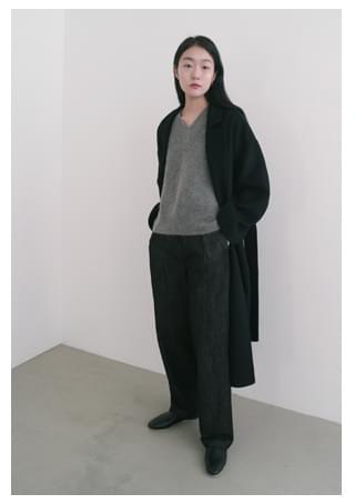 HM open collar coat (2colors)
