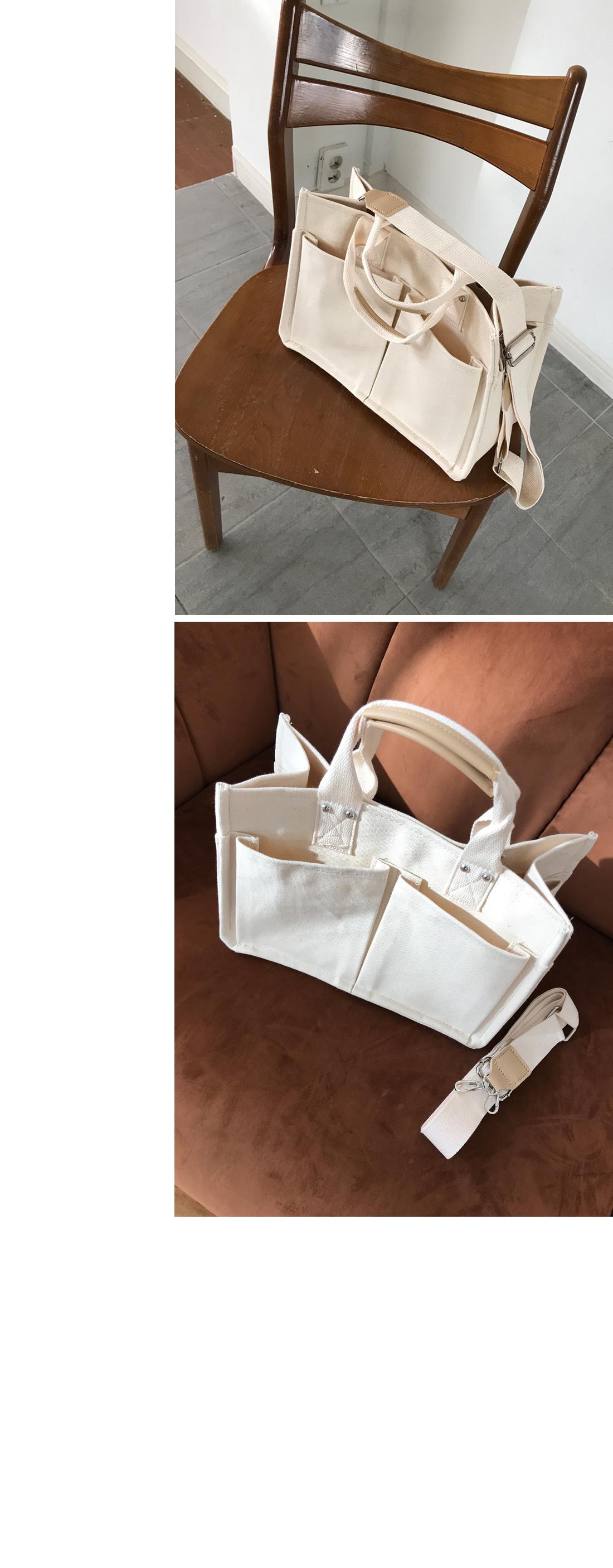 Pocket Canvas Shoulder Tumbler Eco Bag